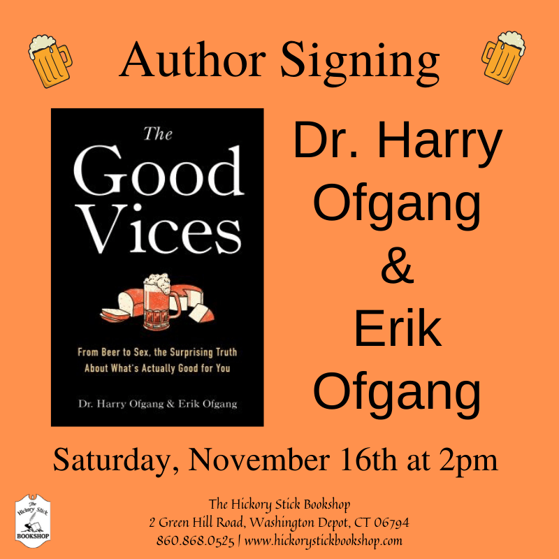 Author Signing with Dr. Harry Ofgang & Erik Ofgang - The Good Vices