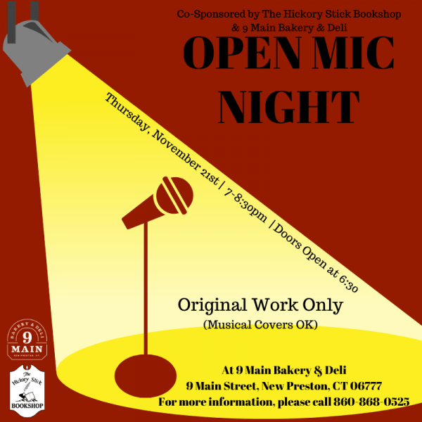 Open Mic Night at 9 Main Bakery & Deli